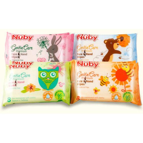 【奇買親子購物網】Nuby 口手柔濕巾(迷你8抽)
