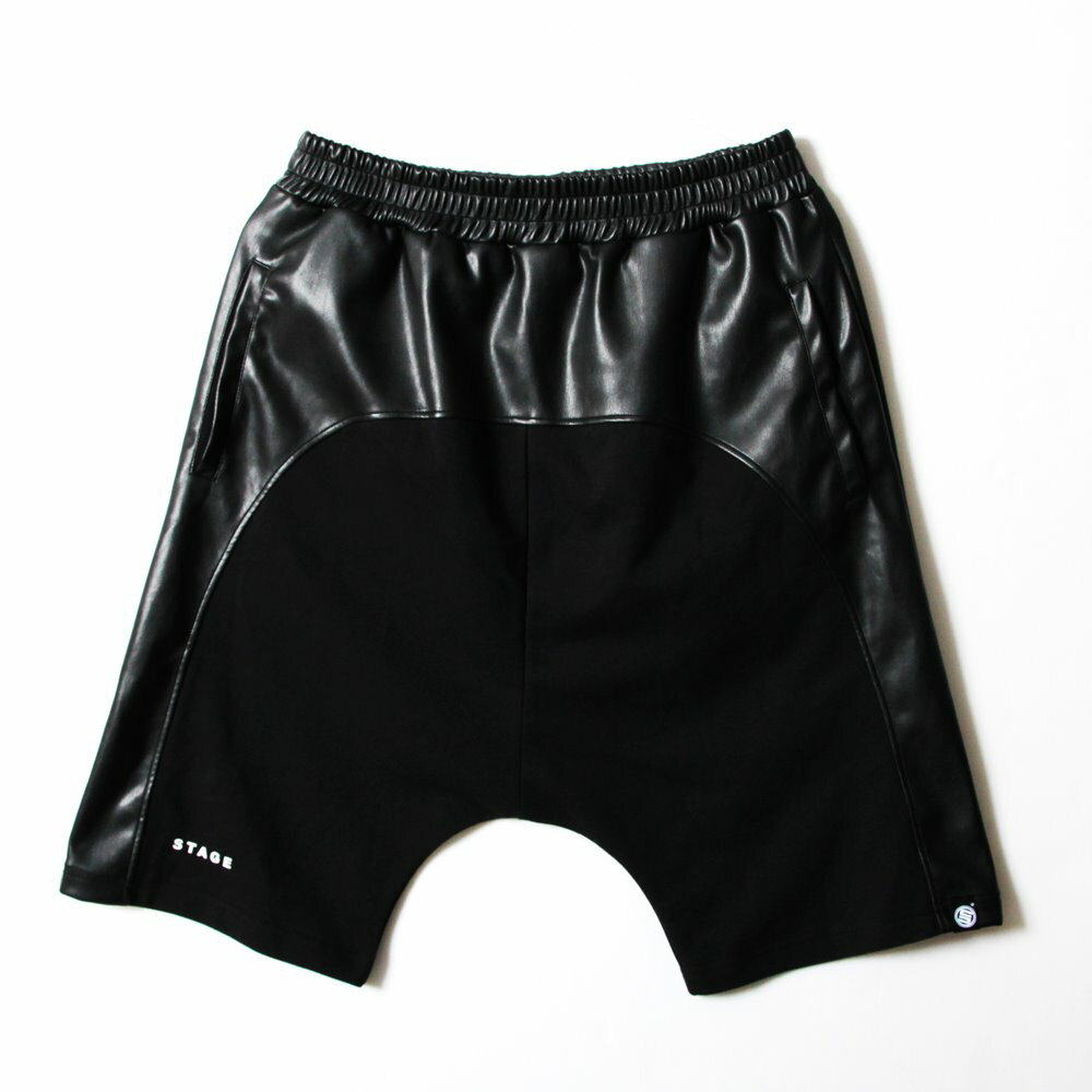 STAGE  BLACK LEATHER SHORTS  黑色 4