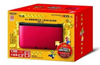 任天堂Nintendo 3DS XL 紅黑色 公司貨 精靈寶可夢20周年紀念隨意組合 (瑪利歐賽車7+惡靈古堡啟示錄+十餘片軟體任選一片)