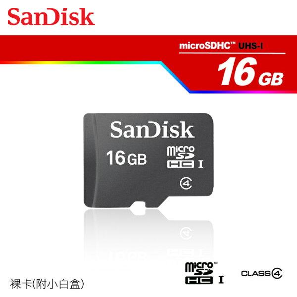 SanDisk Micro SD/T-Flash 16G/Class4 記憶卡/SDHC 記憶卡/(裸卡)