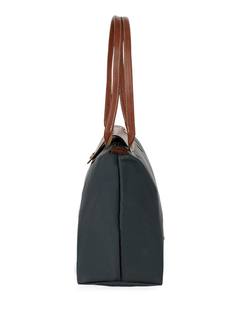 [2605-S號]國外Outlet代購正品 法國巴黎 Longchamp  長柄 購物袋防水尼龍手提肩背水餃包 石墨灰 2