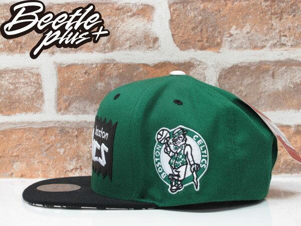 BEETLE PLUS MITCHELL&NESS X BAIT X NBA CELTICS SNAPBACK 波士頓賽爾堤克 黑綠 聯名 後扣棒球帽 1