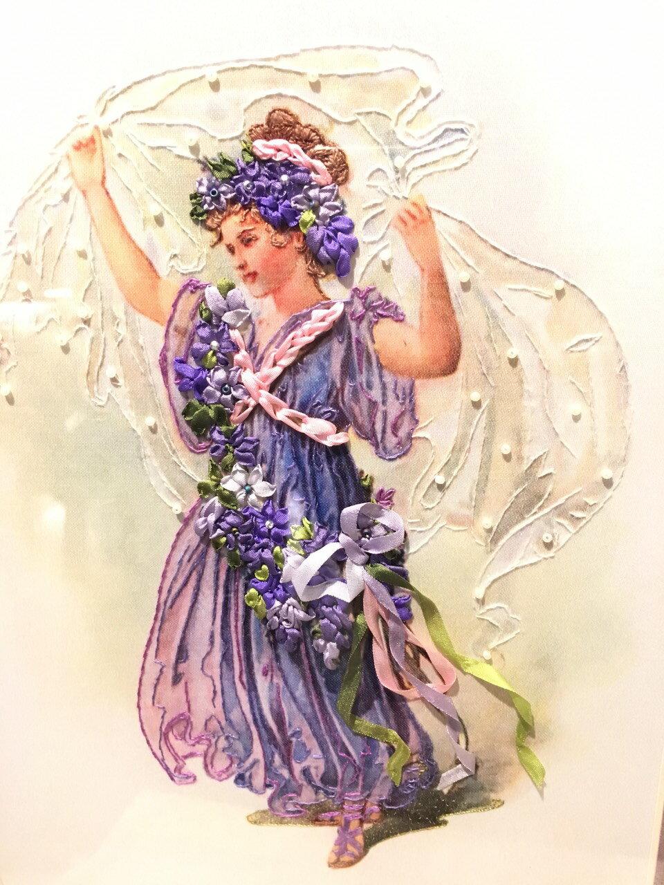 DIY手作-緞帶刺繡材料包(蜻蜓與花) 6