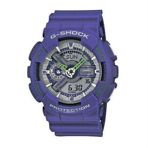 CASIO G-SHOCK GA-110DN-6A質感紫流行腕錶/51mm