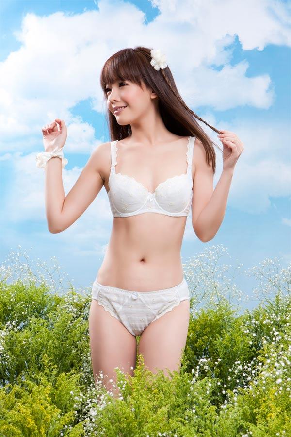 【AJM】花園甜心女孩 三角褲(香檳) 1