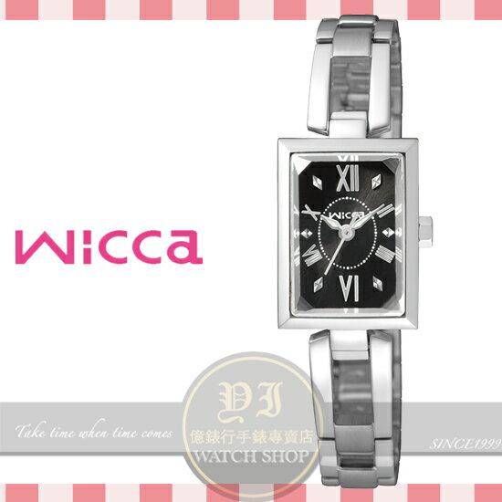 CITIZEN日本星辰Wicca系列氣質名媛腕錶-黑/18mm BE1-011-51公司貨/禮物/情人節