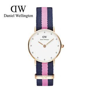 瑞典正品代購 Daniel Wellington 0906DW 銀 玫瑰金 尼龍 帆布錶帶 女錶手錶腕錶 26MM