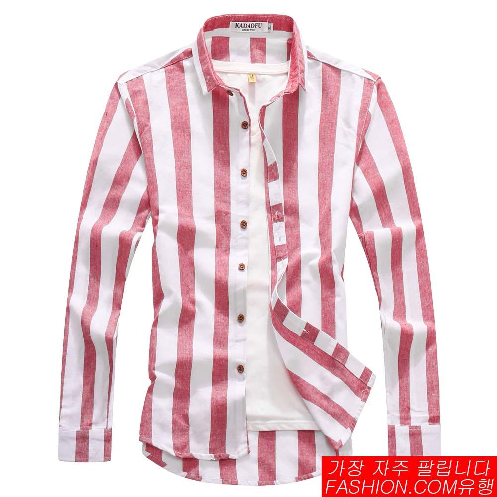 DITION 職人寬直條紋水洗棉長袖襯衫 跳舞 速食麥當勞 1
