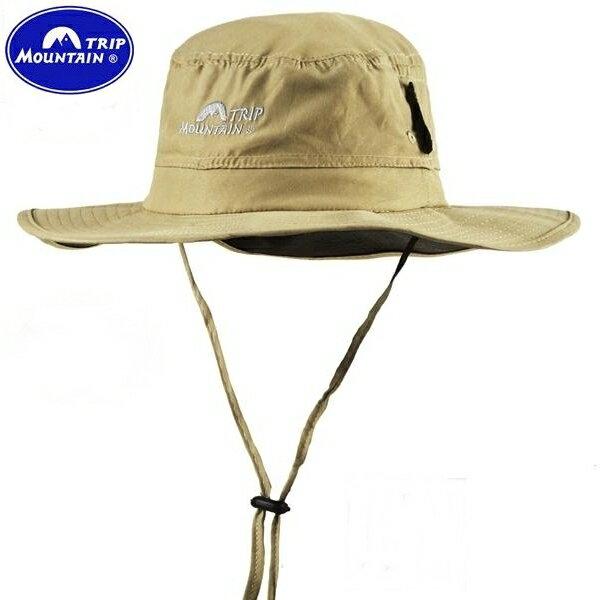又敗家~Mountain Trip大圓頂帽漁夫帽^(輕薄好折.好收納帽^)大圓盤帽大擴邊帽