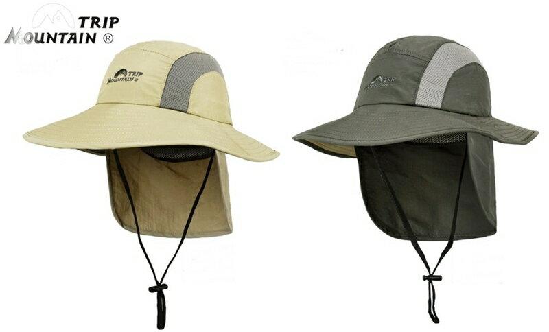 又敗家~Mountain Trip 180度後簾帽防曬遮陽帽^(抗UV抗紫外線UPF30