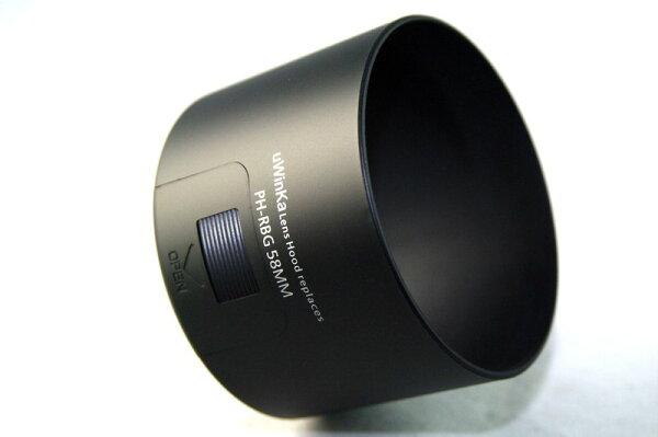 又敗家@uWinka副廠賓得士PENTAX遮光罩PH-RBG遮光罩58mm(附CPL偏光鏡濾鏡窗,可反扣同Pentax原廠遮光罩PHRBG)適PENTAX-DA 55-300mm F4-5.8 ED