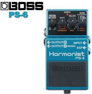 【非凡樂器】BOSS PS-6 Harmonist 效果器/結合四種效果的智慧型移調單踏板效果器/贈導線