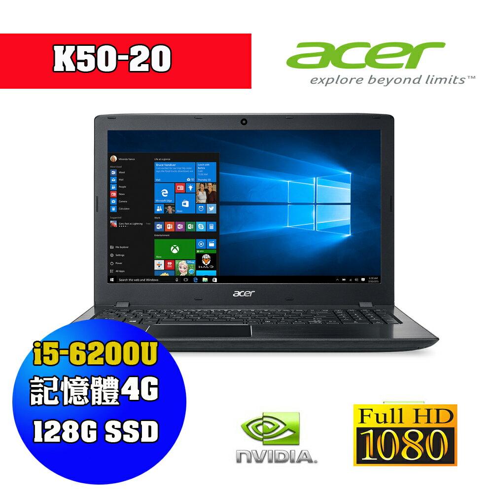 ~acer 宏碁 ~K50~20~575N i5~6200U 4G 128SSD 940M