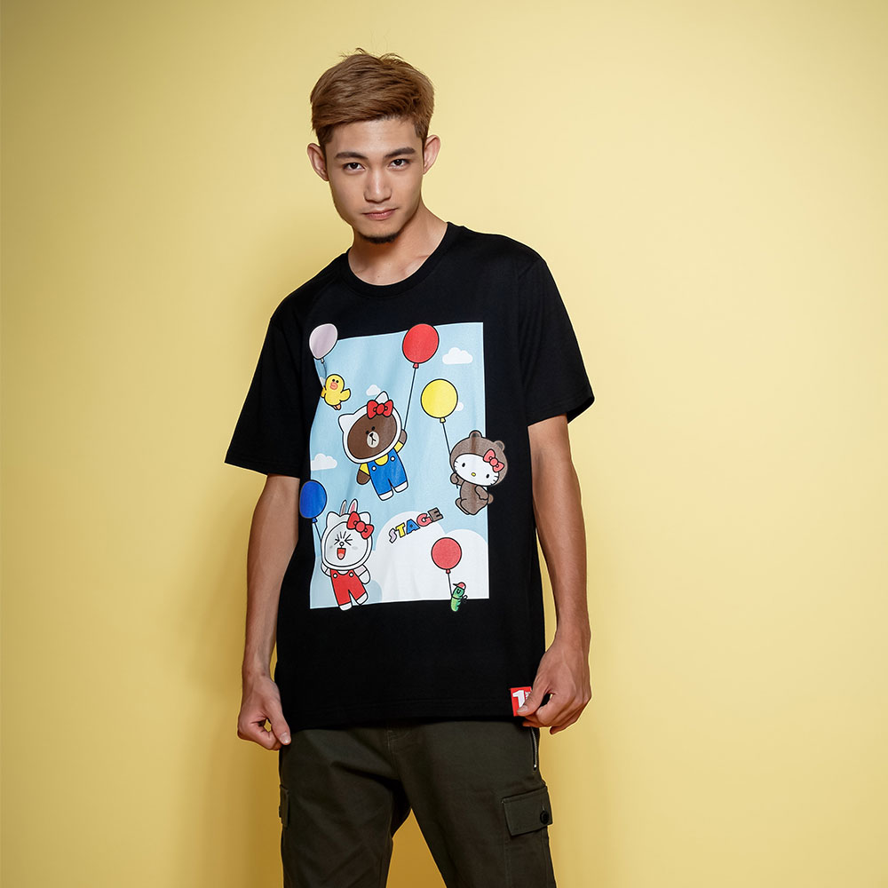 STAGE x HELLO FRIENDS 聯名限定 STAGE COLOR BALLOON TEE 0