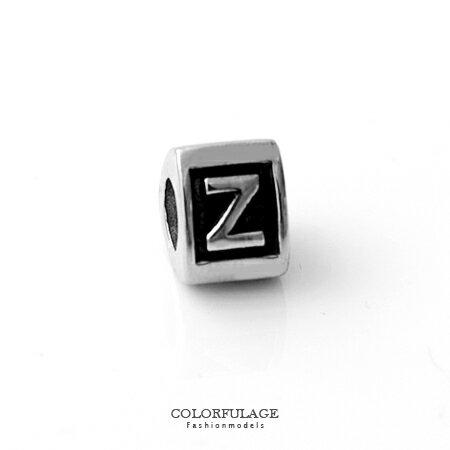 組合字母串珠手鍊 自由搭配鋼墜手環 Z字母 柒彩年代【NT4】CHARMS 0