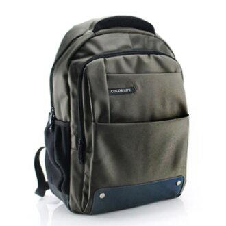 15.6吋 強化尼龍 休閒隨興後背 筆電包 BK063 軍綠色