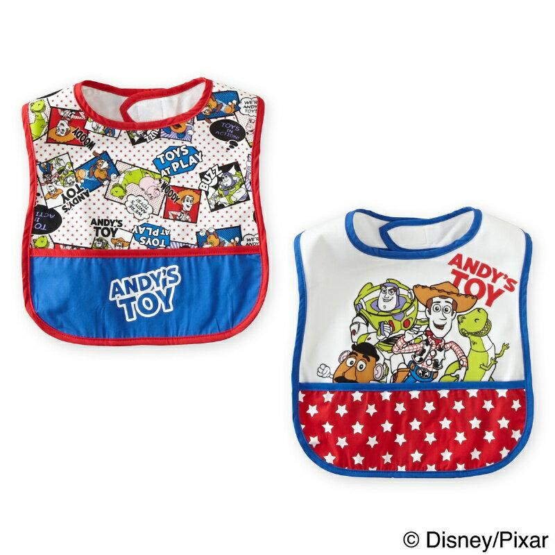 日本 【迪士尼 Disney 】玩具總動員寬版圍兜兜(2件組) 0