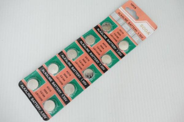 【意生】100顆售 AG10鈕釦電池 389A水銀電池 CX189電池 LR1130W鈕扣電池LED蠟燭燈小鈕扣