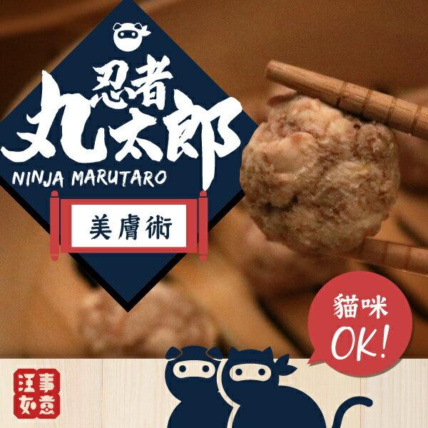寵物貓狗鮮食【忍者丸太郎】美膚術肉丸子(每份100g 約 10~20顆,真空包裝,可微波 / 隔水加熱) 0