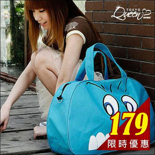 .現貨販售. 超大容量可愛眼睛尼龍旅行袋/斜背包.東京靚包 Spring【AZX23019】