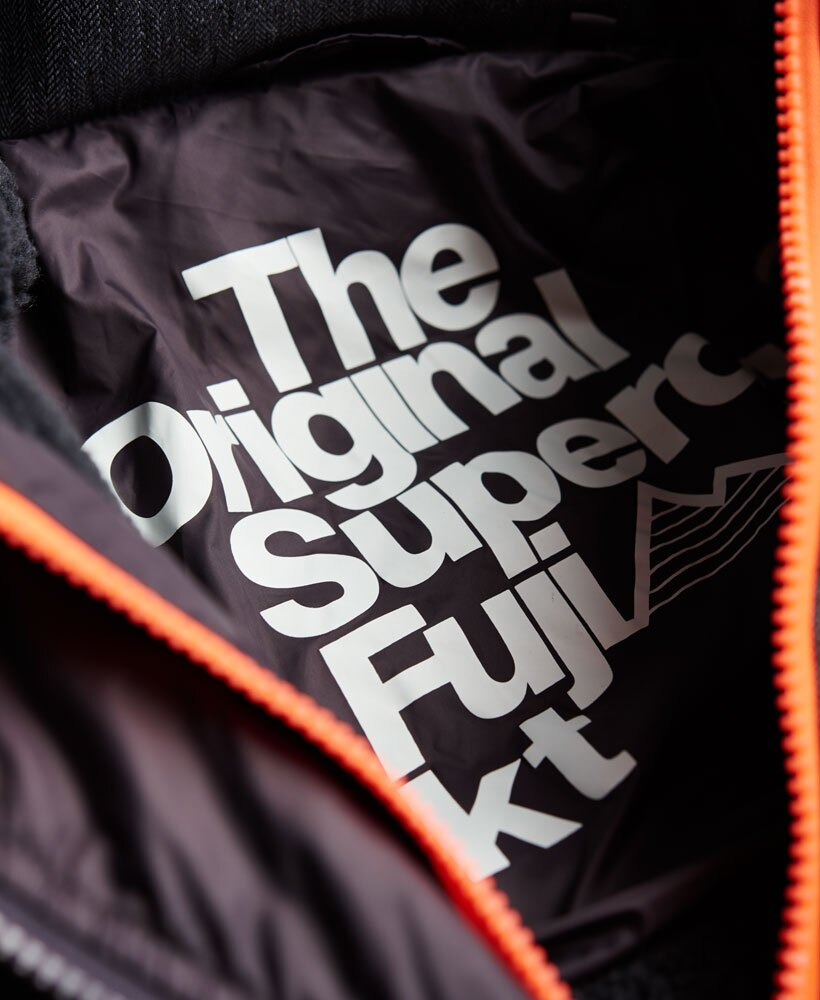 英國代購 極度乾燥 superdry Fuji MIX 男士保暖 拼接內鋪絨休閒雪地加厚夾克外套 灰色 3