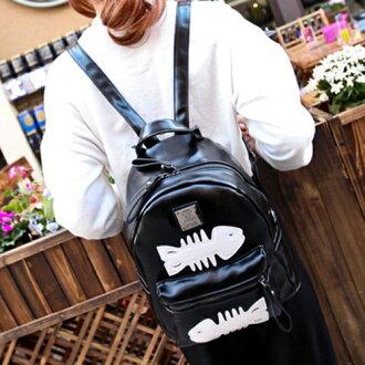 後背包 韓版魚骨頭小魚刺時尚後背包 包飾衣院 P1402 現貨+預購