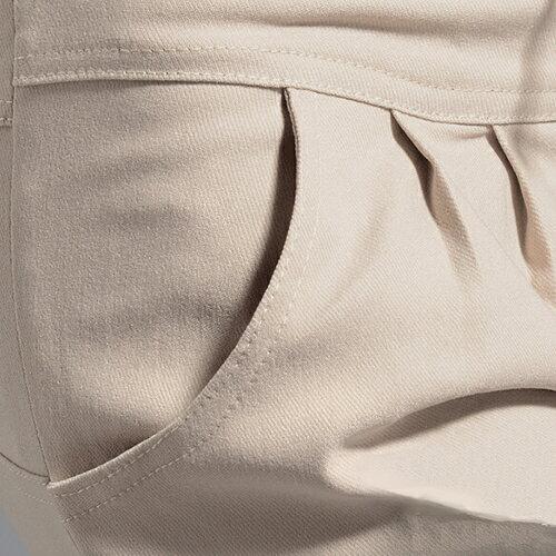 長褲 - 排釦抽繩褶皺口袋休閒窄管彈力褲【23275】藍色巴黎《4色: S~L》現貨+預購 2