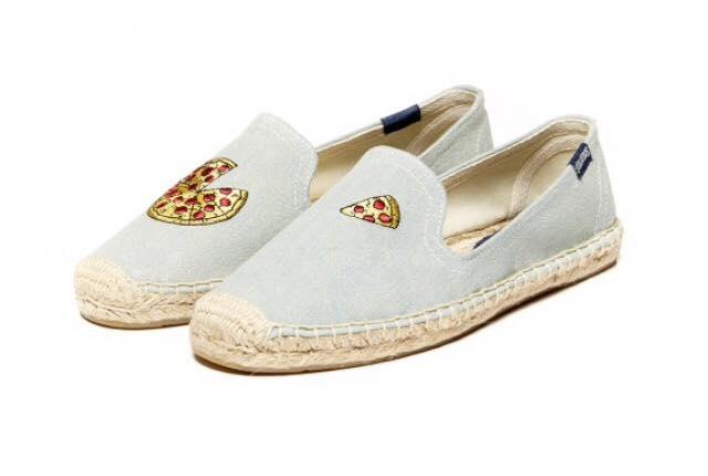 【Soludos】美國經典草編鞋-塗鴉系列草編鞋-Pizza 0