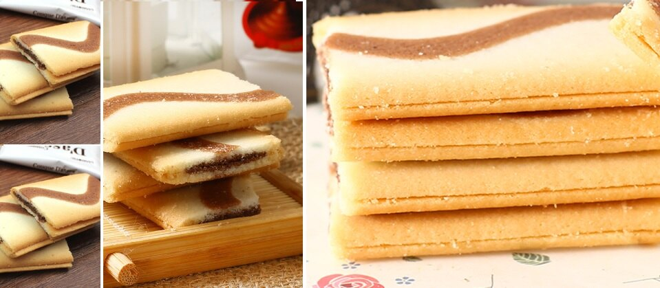 有樂町進口食品 日本 三立薄燒巧克力夾心薄餅 J55 4901830351804 7