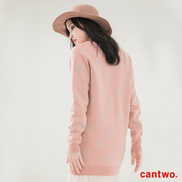 cantwo星星銀蔥混織針織上衣(共二色) 3