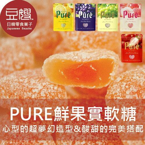 【豆嫂】日本零食 KANRO 甘樂 PURE 水果實感軟糖(白葡萄/紫葡萄/水蜜桃/草莓/檸檬/柳橙)