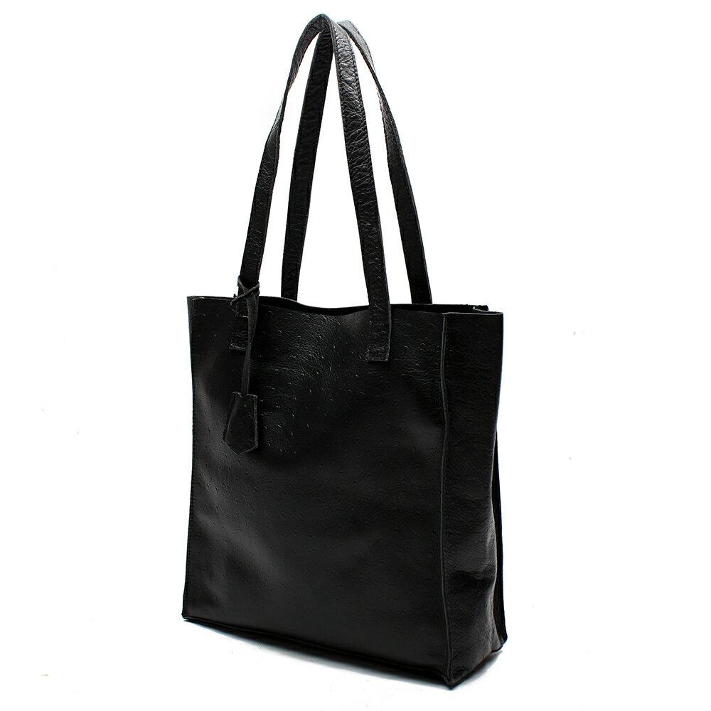 【BEIBAOBAO】氣質名媛牛皮壓紋肩背包(共兩色:  氣質黑) 0