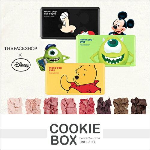 韓國 THE FACE SHOP X Disney 迪士尼 聯名款 8色 眼影 / 眼唇 調色盤 9.5g *餅乾盒子*