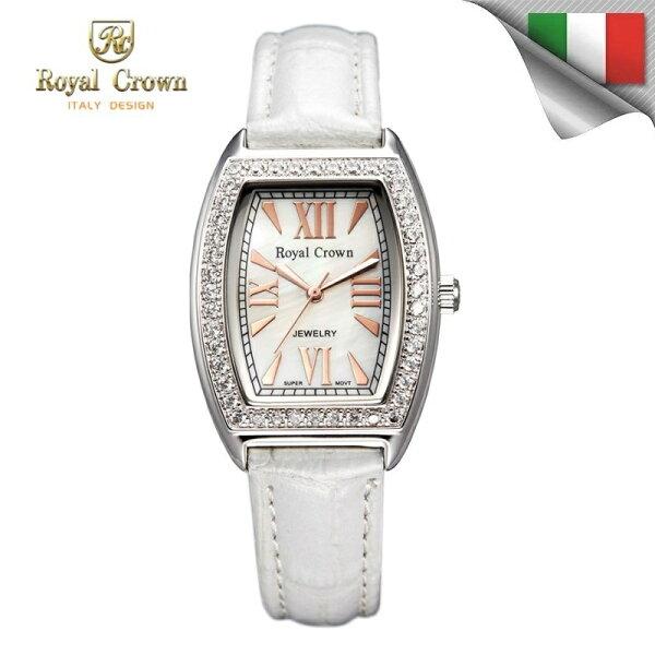 日本機芯 長橢圓款式石英女錶 真皮錶帶多色可選 3635P免運費 義大利品牌精品手錶 蘿亞克朗 Royal Crown 極品風韻