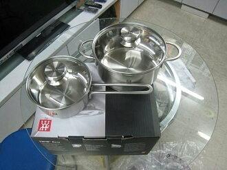 德國 雙人牌 TWIN Nava 不鏽鋼鍋具二件組 (單柄鍋16cm.雙耳鍋20cm) 原廠公司貨