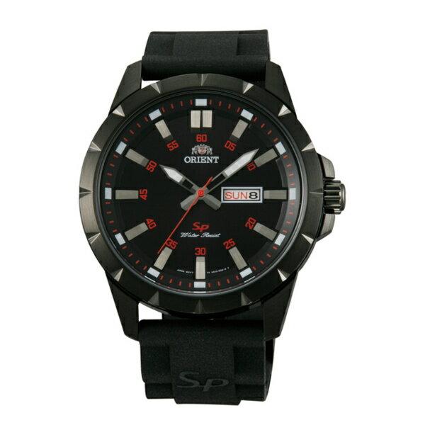 Orient 東方錶(FUG1X00BB)運動風石英腕錶/黑面43mm
