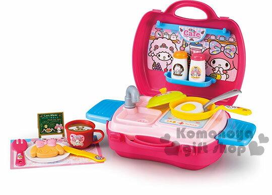 〔小禮堂〕美樂蒂 手提式流理台玩具組《桃.盒裝》適合三歲以上孩童