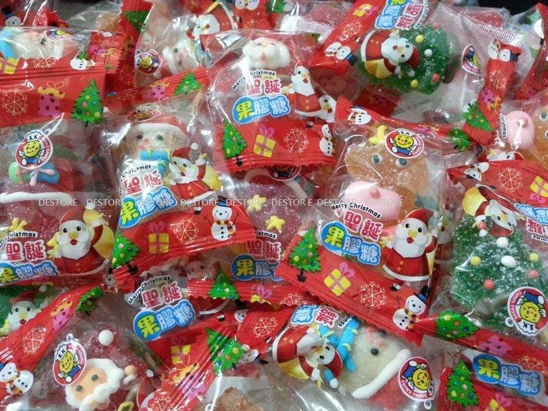 有樂町進口食品  聖誕節 水果風味 軟糖 (1000G/約80顆)~聖誕包裝 交換禮物 聖誕PARTY 果膠軟糖 1