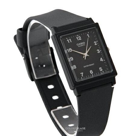 CASIO卡西歐 方形黑面數字刻度設計透氣膠錶 輕巧中性款手錶 柒彩年代【NE1855】原廠公司貨 - 限時優惠好康折扣