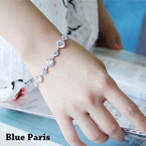 手鍊 - 韓版螺旋造型水鑽手鐲【21549】 藍色巴黎-現貨+預購  【防過敏】 0
