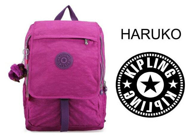 OUTLET代購【KIPLING】雙側口袋大容量旅行後背包  桃紫色 0