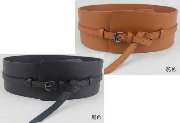 來福,H133腰封隨身弧形時尚寬細兩用超寬腰封寬腰帶皮帶,售價250元