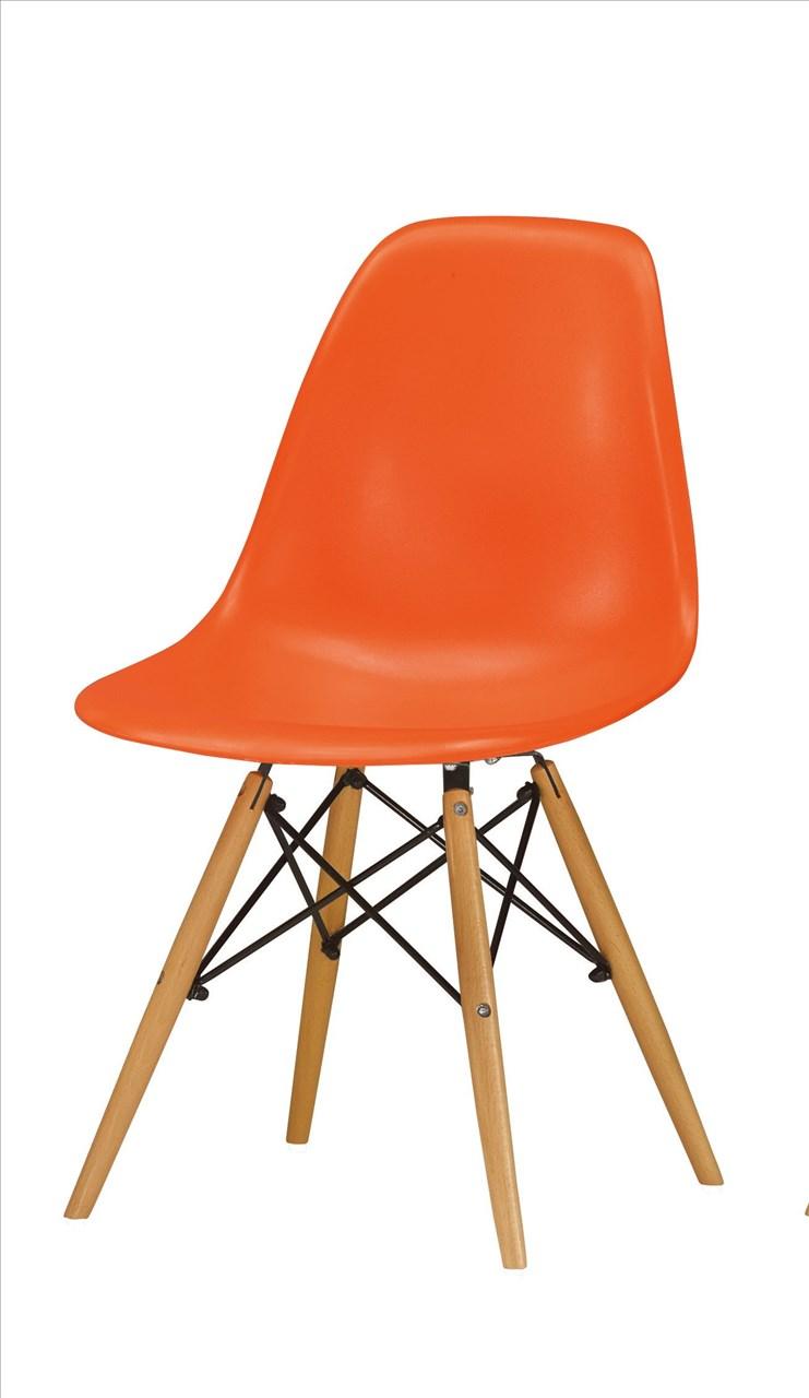 【石川家居】CM-491-13 喬蒂餐椅(橘)─單只 (不含其他商品) 台中以北搭配車趟免運