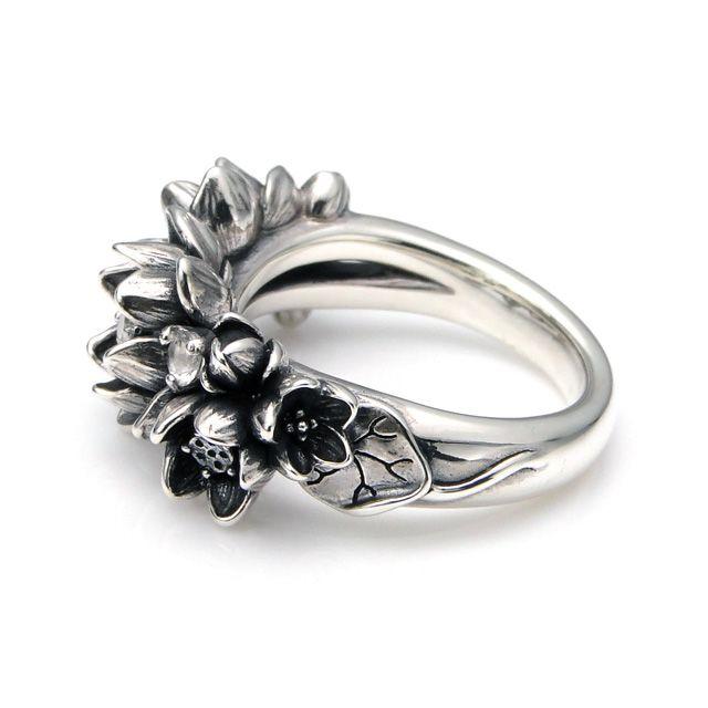【海外訂購】【KONRON】花滿開托帕石純銀戒指 (KRBCR1064-Wt) 2