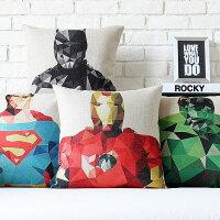 美國隊長周邊商品推薦超級英雄抱枕 蝙蝠俠對超人 鋼鐵人 浩克  美國隊長