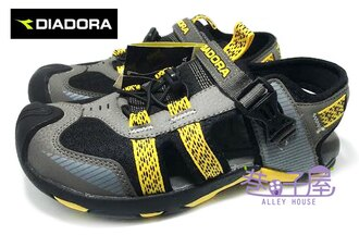 【巷子屋】義大利國寶鞋-DIADORA迪亞多納 男款三大機能護趾運動涼鞋 [9578] 灰 超值價$398