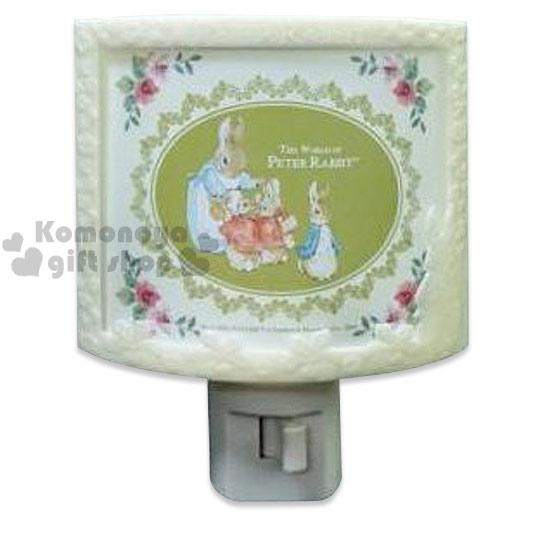 〔小禮堂〕彼得兔 LED造型小夜燈《綠.家族.浮雕.半圓形》可手動式開關