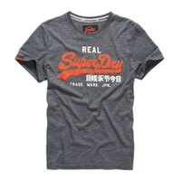Superdry極度乾燥商品推薦美國百分百【Superdry】極度乾燥 T恤 上衣 T-shirt 短袖 短T 圓領 鐵灰 LOGO 復古 S M L XL 2XL號 F315