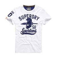Superdry極度乾燥商品推薦美國百分百【Superdry】極度乾燥 T恤 上衣 T-shirt 短袖 短T 圓領 白色 斯巴達 復古 S M L XL 2XL號 F317
