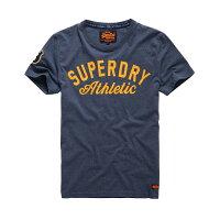 Superdry極度乾燥商品推薦美國百分百【Superdry】極度乾燥 T恤 上衣 T-shirt 短袖 短T 圓領 藏藍 logo 復古 S M L號 F318